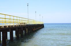 Pier at Baltic Sea Royalty Free Stock Photo