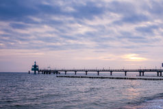 Pier at Baltic Sea Royalty Free Stock Photography