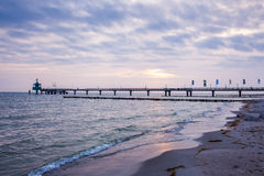 Pier at Baltic Sea Royalty Free Stock Images