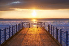 Pier by the Baltic Sea Stock Images