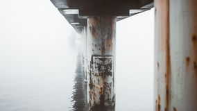 Pier on the bank of the Baltic Sea royalty free stock photos