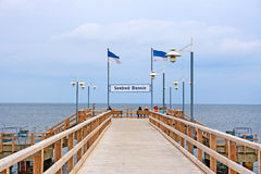 Pier in Bansin, Island Usedom Stock Photos