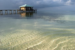 Pier bar on Glovers Atoll, Belize Stock Photo