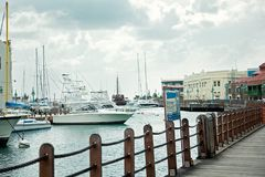 Pier Barbados Island Capital. Yachts and boats. royalty free stock photos