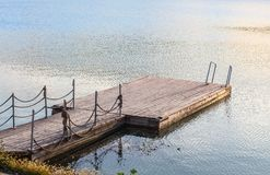 pier for bathing and boat docking Royalty Free Stock Photo