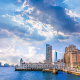 Pier A in Battery Park Manhattan skyline New York Stock Photography