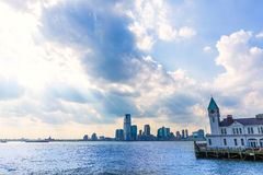 Pier A in Battery Park Manhattan skyline Royalty Free Stock Photos