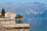 Pier in the bay of Kotor, Montenegro Royalty Free Stock Image