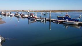 Pier Bay, muelle en la ciudad de Santa Luiza, Tavira Portugal metrajes