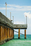 Pier on a beach Stock Photography