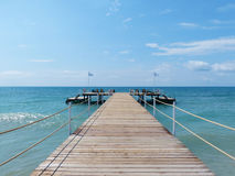 Pier on Beach Royalty Free Stock Image