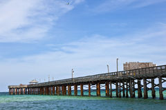 Pier on a beach in Miami Royalty Free Stock Images