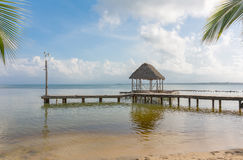 Pier on the beach, Panama Stock Images