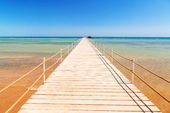 Pier on the beach of Red Sea in Hurghada Stock Photo