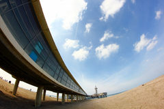 Pier on the beach in scheveningen the hague holland Royalty Free Stock Image
