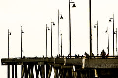 Pier at beach Royalty Free Stock Photography