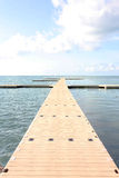 Pier at a beautiful holiday destination. A floating pontoon in resort in Koh Samui royalty free stock photography