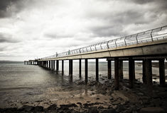 Pier Before The Storm Royalty Free Stock Photos