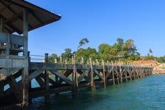 Pier bei Chang Island Lizenzfreie Stockfotografie