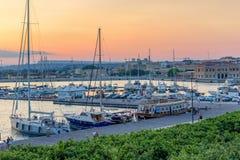 Pier bei dem Sonnenuntergang Lizenzfreies Stockfoto