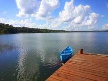 Pier bei Punta Laguna Quintana Roo, Mexiko stockfotografie