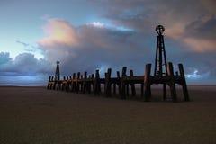 Pier bei Sonnenaufgang lizenzfreies stockfoto