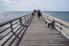 Pier beim Golf von Mexiko, Florida Stockfotografie