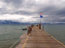 Pier beim Lake Tahoe Stockbild