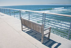 Pier Bench Royalty Free Stock Image