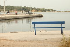 pier bench royalty free stock photography