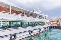 Pier of Besiktas in Besiktas, Istanbul, Turkey stock images