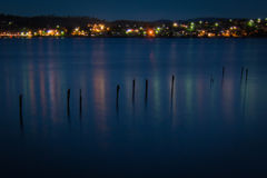 Pier bij dark Royalty-vrije Stock Foto's