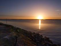 Pier bij Fort Fisher State Recreation Area royalty-vrije stock afbeeldingen