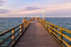 Pier in Binz, Ruegen Island, Germany. Pier in Binz, Ruegen Island Royalty Free Stock Image