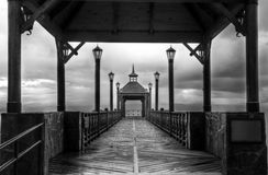 The Pier black and white Royalty Free Stock Image