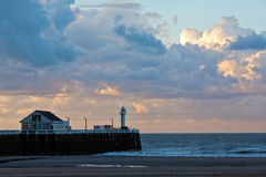 Pier at Blankenberge, Belgium Royalty Free Stock Photos