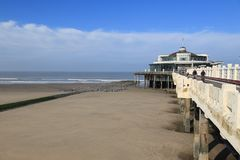 Pier of Blankenberge in Belgium. View from the land Stock Photo