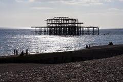 Pier bleibt Lizenzfreies Stockbild