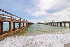 Pier on the blue sky Royalty Free Stock Images