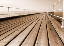 Pier boardwalk Royalty Free Stock Image