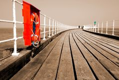 Pier boardwalk Stock Photography