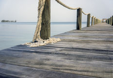 Pier or boardwalk in Caribeean Royalty Free Stock Photography