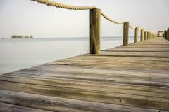 Pier or boardwalk in Caribeean Stock Photo