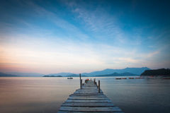 Pier and boat Stock Photography