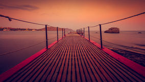 Pier for boats and ships Royalty Free Stock Photo
