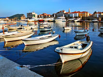 Pier with boats and yachts Stock Images