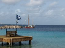 Pier in Bonaire Royalty Free Stock Image