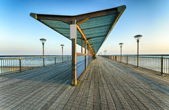 Boscombe Pier. The pier at Boscombe in the seaside town of Bournemouth in Dorset Stock Photography