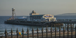 A pier in Bournemouth. This image shows a pier in Bournemouth Royalty Free Stock Photo