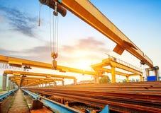 Pier and bridge crane Stock Image